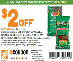 Home depot coupon for 2 off vigoro ultra turf soil Gardeners supply company promo code