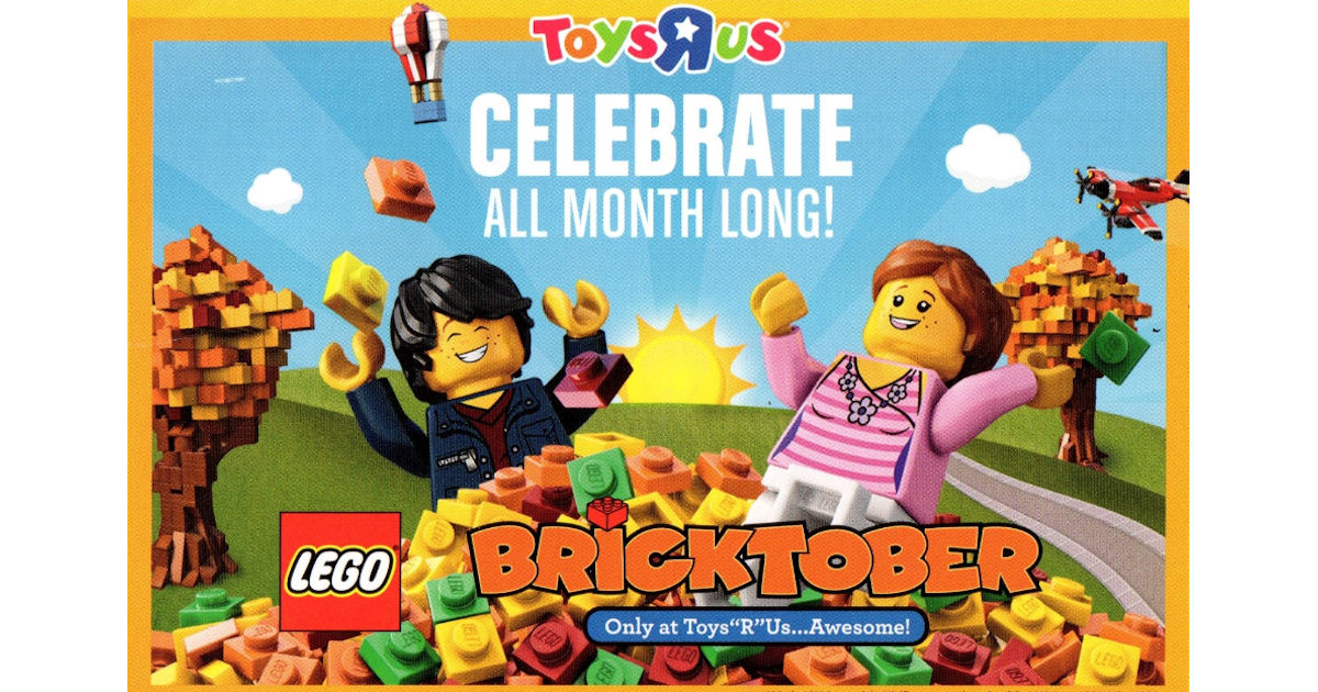 Free LEGO Bricktober Bricktivity at Toys R Us - Free Product Samples