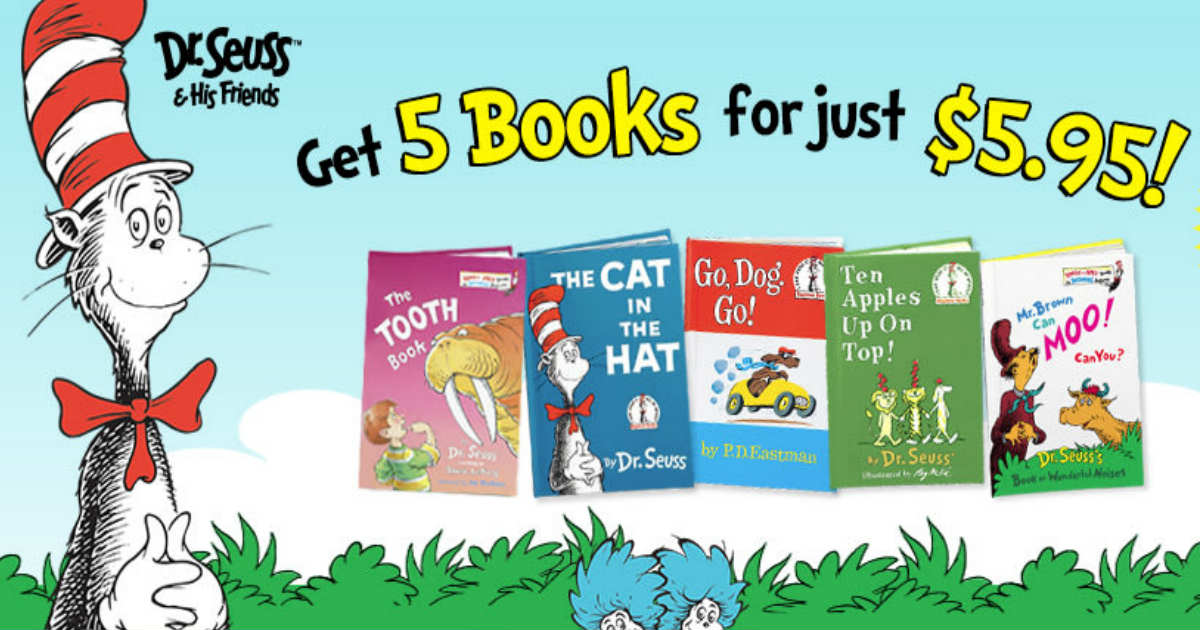 $5.95 for 5 Dr. Seuss Books + Free Shipping