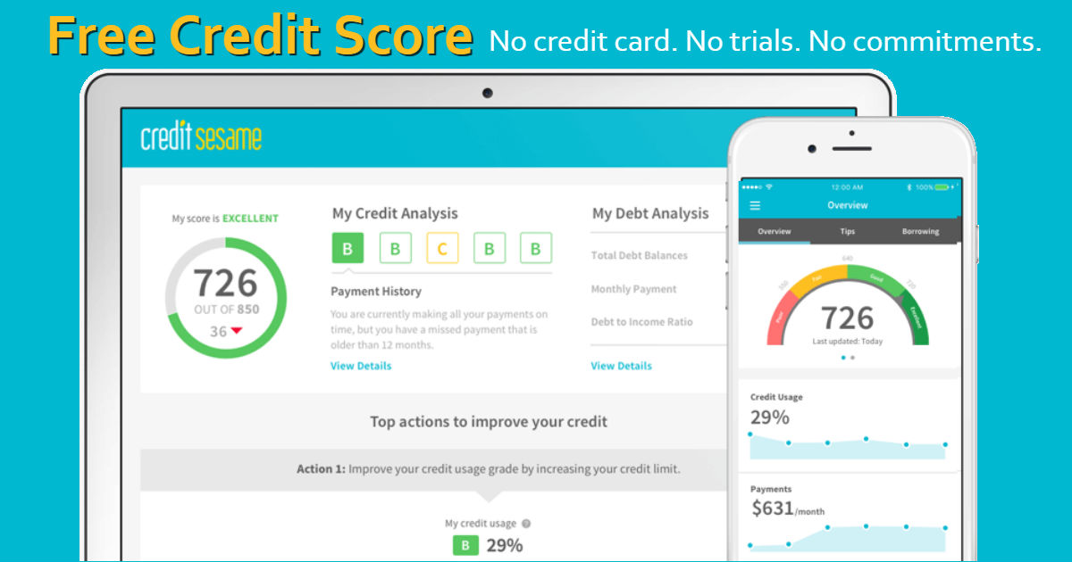 Free Credit Score & Monthly Monitoring Reports