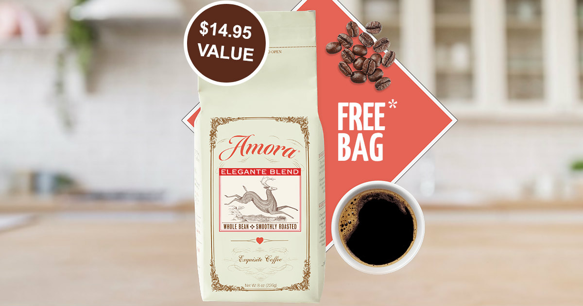 FREE Amora Premium Coffee - Just Pay $1 Shipping