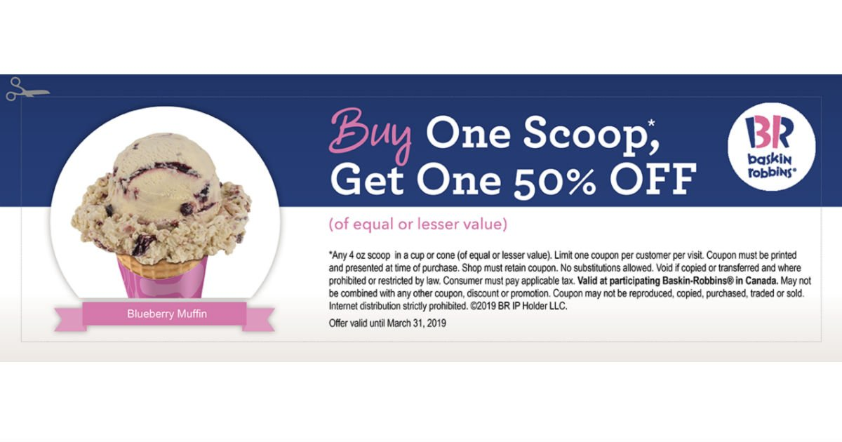 photo relating to Baskin Robbins Printable Coupons named Baskin Robbins BOGO 50% Off Ice Product Scoop - Printable Discount codes