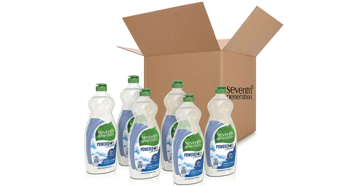 6-Pack of Seventh Generation Dish Liquid Soap ONLY 11.65 Shipped