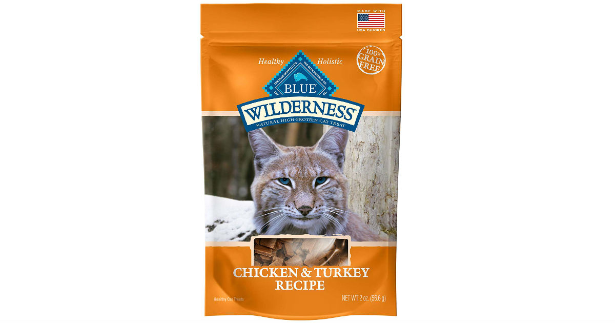 Buffalo Wilderness Grain Free Soft-Moist Cat Treats ONLY $0.96