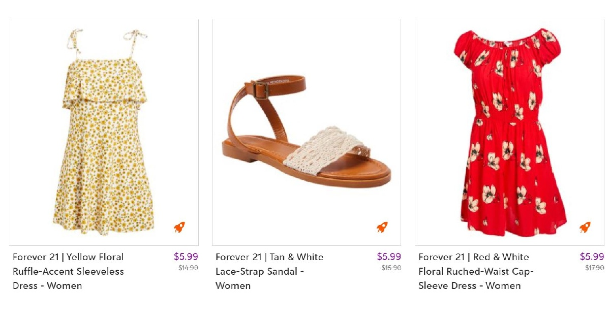 Zulily Everything Under $6 Sale on Forever 21