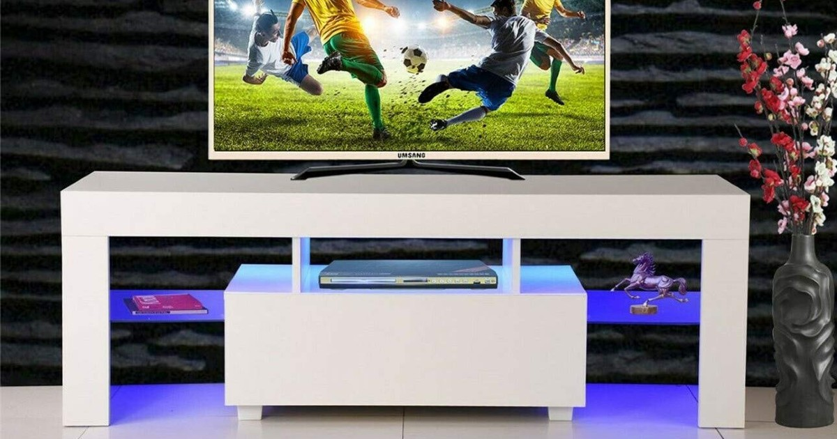 TV Stand Media Console Cabinet ONLY $124.99 (Reg $200)