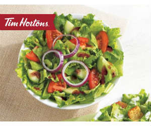 image relating to Tim Hortons Coupons Printable referred to as Tim Hortons - Absolutely free Salad with Wrap or Sandwich Get